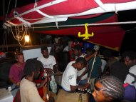 village jam on a boat